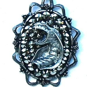 RANSOM RHINESTONE COBRA NECKLACE SAMPLE